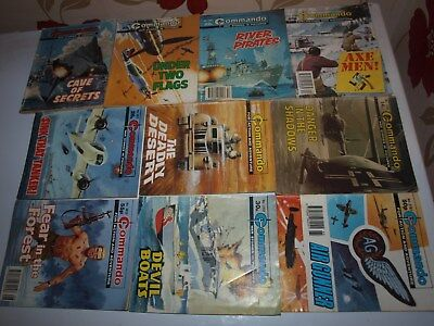 10 Old Commando and battle picture library War books Retro Collectable 21