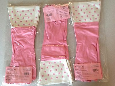 The Pampered Chef Pink Kitchen Gloves #2672 Lot of 3 Gloves Three Pairs Large