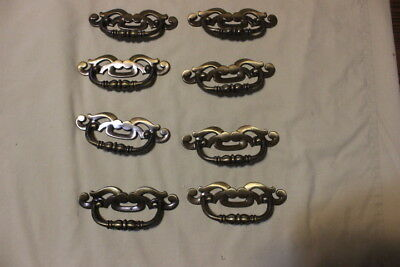 "Lot of 8 metal ornate drawer pulls 5"" width"