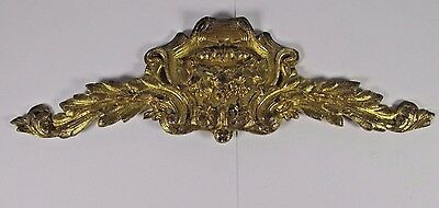 Antique Bronze Ornament: Overdoor Gilt Furniture French Pediment Architectural 1