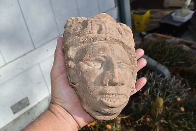pre columbian carved stone warrior effigy Mexico City aaca