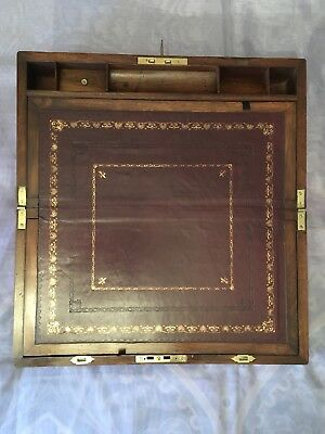 Large Victorian Writing Slope with Secret Drawers and Bramah Lock & Key