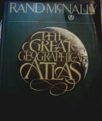 Great Geographical Atlas by Rand McNally Hardback Book The Cheap Fast Free Post