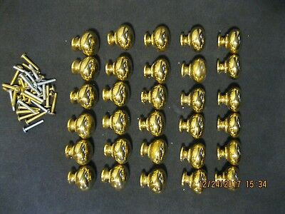 32 Polished Brass Drawer Pulls Knobs And Hardware