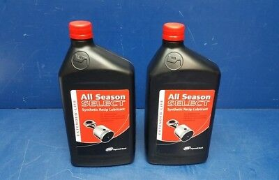 Lot of 2 Ingersoll Rand 38436721 All Season Select Synthetic Recip Lubricant 1L