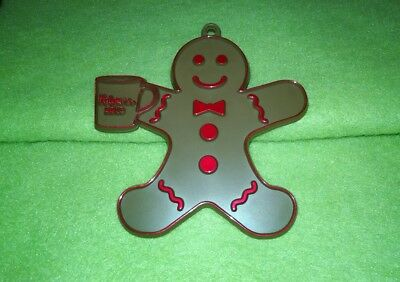 2013 Folgers Coffee Gingerbread Man with Mug Christmas Ornament Employee Gift?
