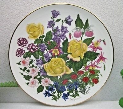 Mint FRANKLIN PORCELAIN Wedgwood FLOWERS OF THE YEAR plate collection JUNE 1977