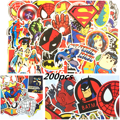 200 Mixed Random Hero Sticker Decal For Car Atv Bike Racing Helmet Motorcross