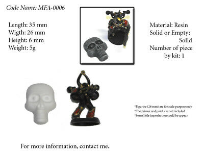 MFA-0006 - (Bit for Wargame) - Skull Face with Eyes - Lot 01