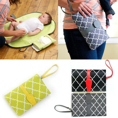 Baby Portable Folding Diaper Travel Changing Pad Waterproof Mat Bag Storage UK