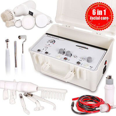 6 in 1 High Frequency Acne Removal Anti Wrinkle Galvanic Cleaning Spray Suitcase