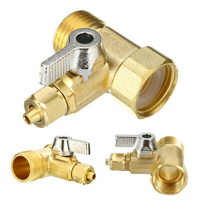 Fixed Brass 1/2'' to 1/4'' RO Feed Ball Valve Faucet Tap Water Filter Connector