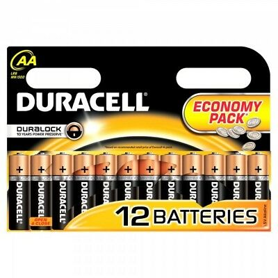 Duracell 12 x 1.5V AA Batteries Economy Pack Duralock LR6 EXP March 2024