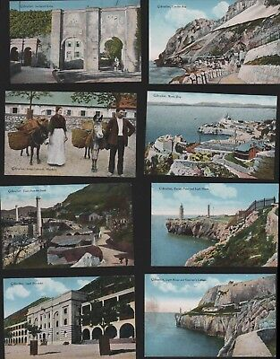 Gibraltar Vintage Colour Postcards Gates Rosia Catalan Hawkers Barracks RN.209