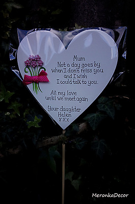 Mothers Day Memorial ornament grave Mum, Dad Grave -Personalised-Not a day goes