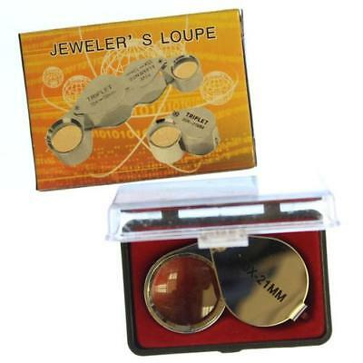 1 Jeweler's Loupe 30X -21mm Chrome Plated Metal Frame and Glass Lens