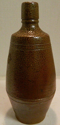 "Vintage Hand Made A. Rangel Stoneware Bottle Portugal 9"" x 3.75"" Excellent Cond"