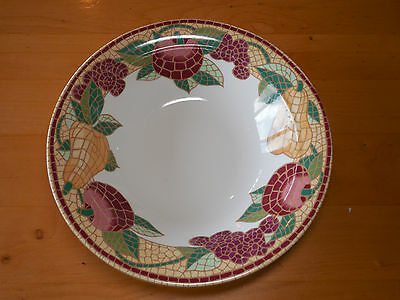 "Pier 1 MOSAIC FRUIT Set of 2 Round Serving Salad Pasta Bowls 11 3/4"" B"