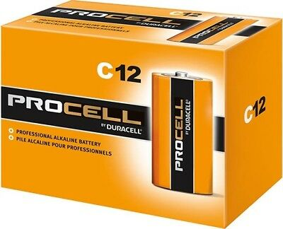 CASE 36 NEW DURACELL PROCELL SIZE C Alkaline Batteries
