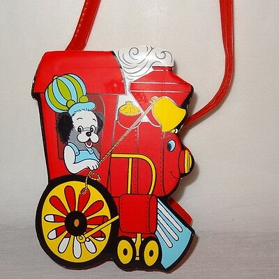 "Vintage Train Engine Puppy Red Purse 6"" Girl's Toy Bag"