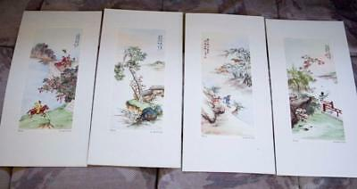 CARMEL CA,Chinese artist Ling-Fu Yang Litho Lot Spring, Summer,Autumn and Winter