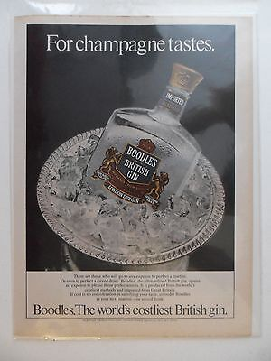 1981 Print Ad Boodles British Gin ~ For Champagne Tastes