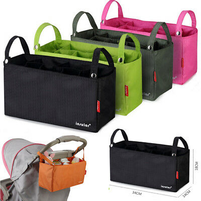 Organiser Hanging Bag Basket Pram Pushchair Stroller Diapers Nappies Storage Bag