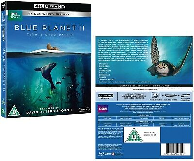 THE BLUE PLANET II (2017) David Attenborough NEW Series Rg Free UHD 4K + BLU-RAY