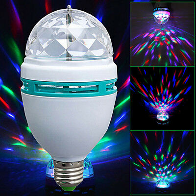 Image result for Crystal Ball Rotating LED Stage Light Bulbs Disco Party Bulb