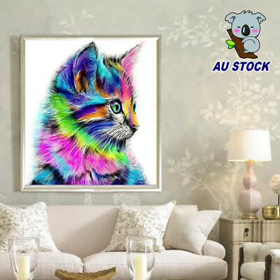 5D DIY Cat Diamond Painting Animal Craft Picture for Kids Cross Stitch Embroider