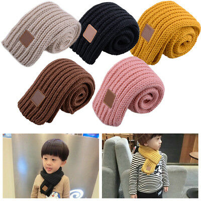 Baby Kids Knitting Wool Scarf Collar Winter Warm Neckerchief Boy Accessories