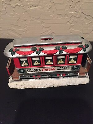 Coca Cola Lloyd Street Trolley Town Square Collection 1993 Christmas  Display
