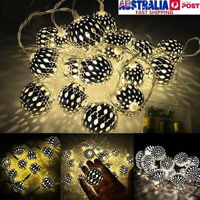 20LED Round Morocco Fairy String Lights Party Patio Christmas Wedding Home Decor