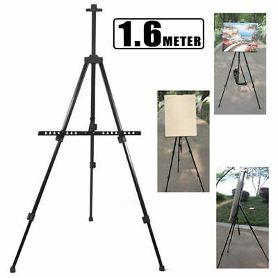 Portable Folding Durable Easel Iron Sketch Artist Painters Tripod Carry Bag