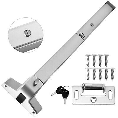 Door Push Bar + Alarm Panic Exit Device Lock Emergence Heavy Duty Adjustable