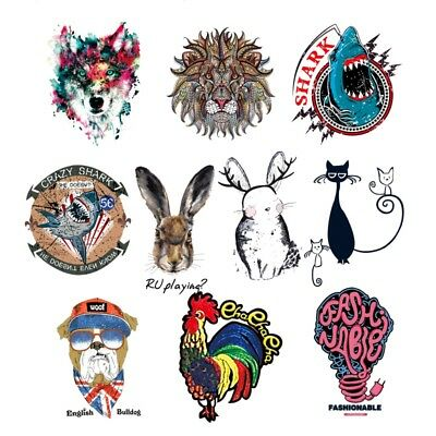 Embroidered Sew Iron On Patches Badge Fabric Clothes Bag Applique Transfer Craft