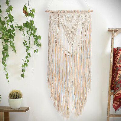 Handmade BOHO Style Chic Macrame Woven Wall Hanging Tapestry Art Home Decor Gift