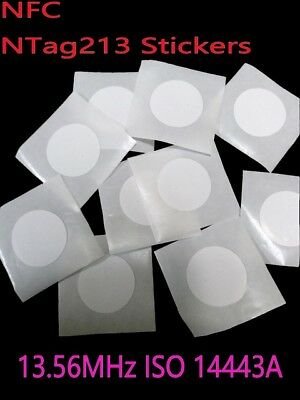 10 pcs/lot NFC Tags Label 25mm NTAG213 Blank Sticker Android Mobile Windows UK