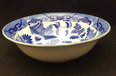 Blue Willow China Large Round Serving Dish - Made in Japan