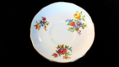 VTG Coalport England Fine China Saucer In Excellent Condition, White Floral 2231