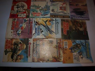 10 Old Commando and battle picture library War books Retro Collectable 4