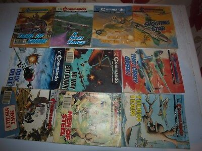 10 Old Commando and battle picture library War books Retro Collectable 5
