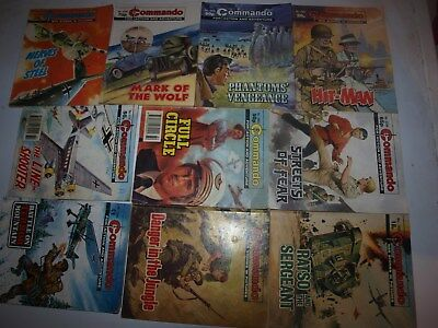 10 Old Commando and battle picture library War books Retro Collectable 8