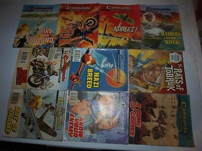 10 Old Commando and battle picture library War books Retro Collectable 9