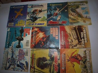 10 Old Commando and battle picture library War books Retro Collectable 11