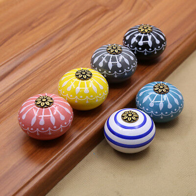 New Hand-made Multi Color Ceramic Door Knobs Handpainted Kitchen Cabinet Knobs