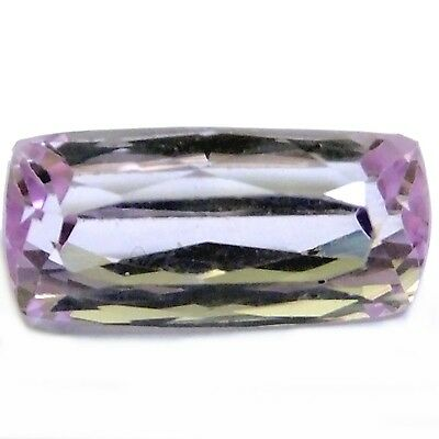 NATURAL CUSHION-CUT KUNZITE GEMSTONE 15.1 x 7.1 mm AAA LIGHT PINK LOOSE KUNZITE