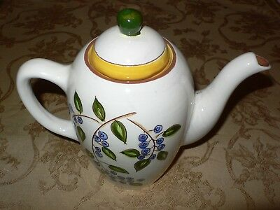 Stangl Blueberry  COFFEEPOT Pottery Made in the USA