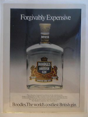 1981 Print Ad Boodles British Gin ~ Forgivably Expensive