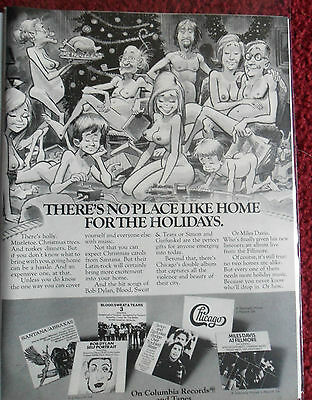 1970 Print Ad Columbia Records ~ Home for the Holidays Jack Davis ART